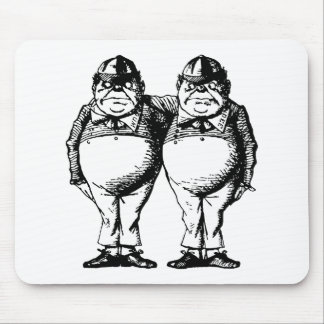 Tweedle Dee and Tweedle Dum Inked Mouse Pad