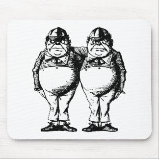 Tweedle Dee and Tweedle Dum Inked Mouse Pad
