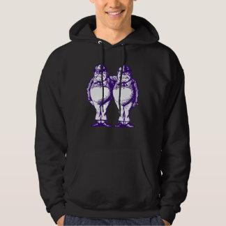Tweedle Dee and Tweedle Dum Inked Purple Hoodie