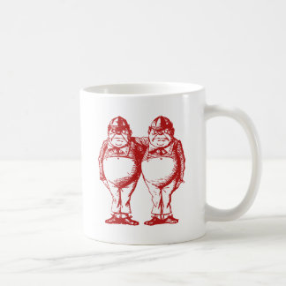 Tweedle Dee and Tweedle Dum Inked Red Coffee Mug