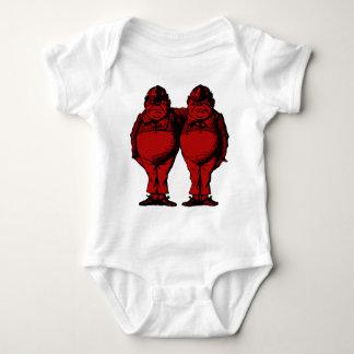 Tweedle Dee and Tweedle Dum Inked Red Fill Baby Bodysuit