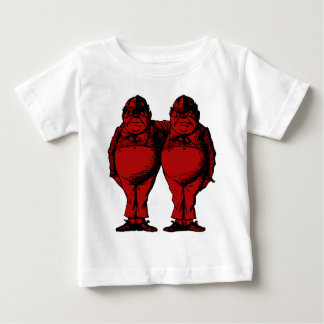 Tweedle Dee and Tweedle Dum Inked Red Fill Baby T-Shirt