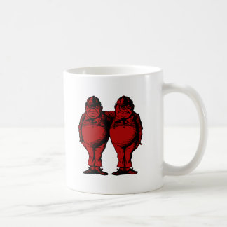 Tweedle Dee and Tweedle Dum Inked Red Fill Coffee Mug