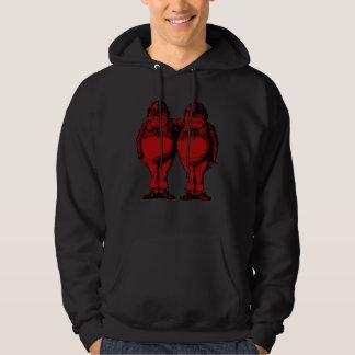 Tweedle Dee and Tweedle Dum Inked Red Fill Hoodie