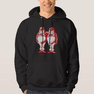 Tweedle Dee and Tweedle Dum Inked Red Hoodie