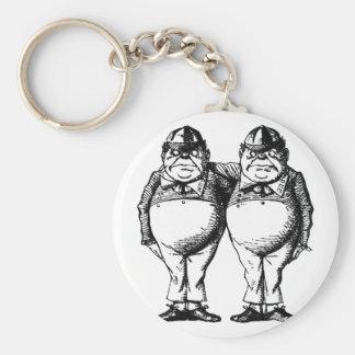 Tweedle Dee and Tweedle Dum Keychain