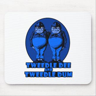 Tweedle Dee and Tweedle Dum Logo Blue Mouse Pad