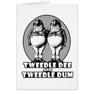 Tweedle Dee and Tweedle Dum Logo Card