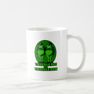 Tweedle Dee and Tweedle Dum Logo Green Coffee Mug