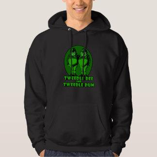 Tweedle Dee and Tweedle Dum Logo Green Hoodie