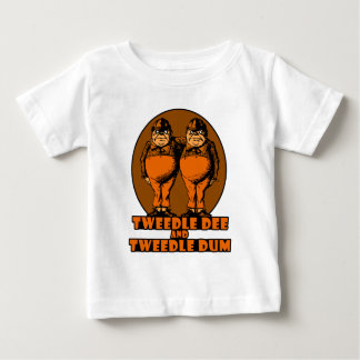 Tweedle Dee and Tweedle Dum Logo Orange Baby T-Shirt