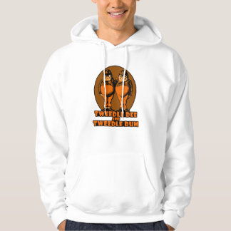 Tweedle Dee and Tweedle Dum Logo Orange Hoodie