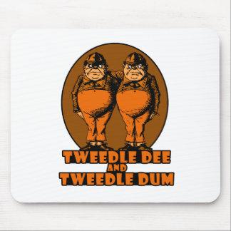 Tweedle Dee and Tweedle Dum Logo Orange Mouse Pad
