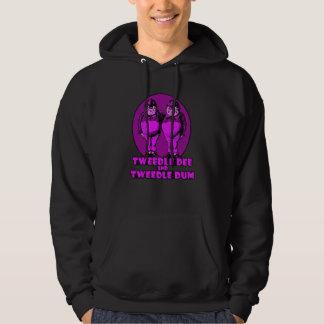 Tweedle Dee and Tweedle Dum Logo Pink Hoodie