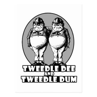 Tweedle Dee and Tweedle Dum Logo Postcard
