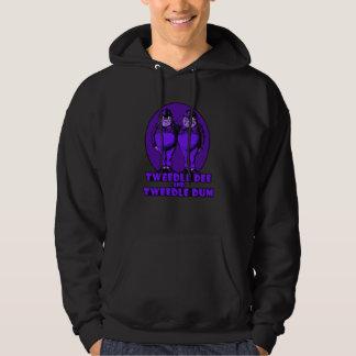 Tweedle Dee and Tweedle Dum Logo Purple Hoodie