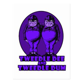 Tweedle Dee and Tweedle Dum Logo Purple Postcard