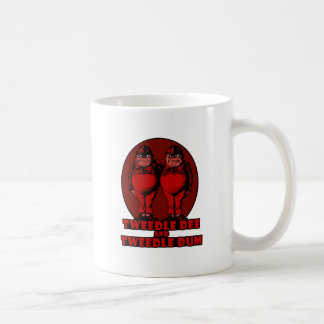 Tweedle Dee and Tweedle Dum Logo Red Coffee Mug
