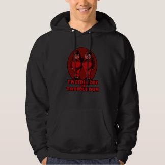 Tweedle Dee and Tweedle Dum Logo Red Hoodie