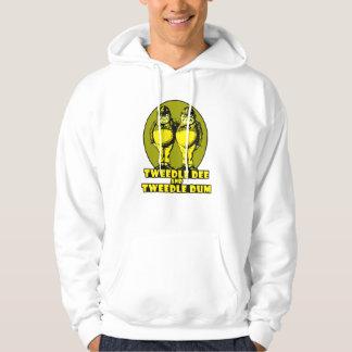 Tweedle Dee and Tweedle Dum Logo Yellow Hoodie