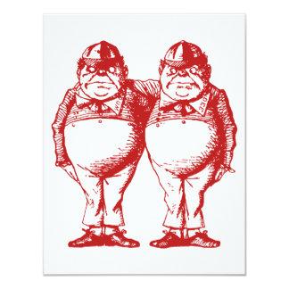 Tweedle Dee and Tweedle Dum Red Prom Bid Card