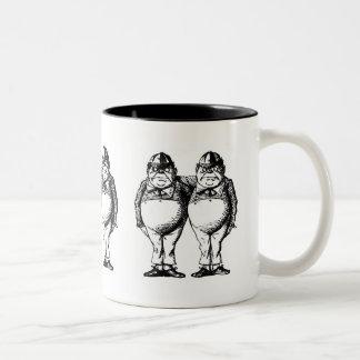 Tweedle Dee and Tweedle Dum Two-Tone Coffee Mug