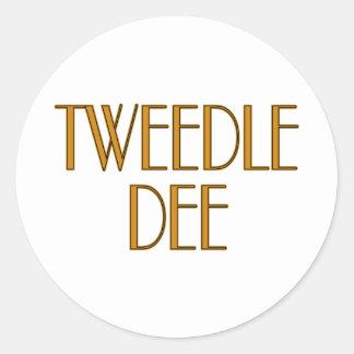 Tweedle Dee Pegatina Redonda