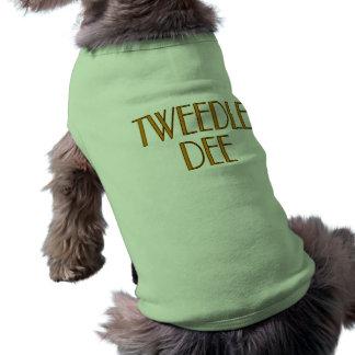 Tweedle Dee Playera Sin Mangas Para Perro
