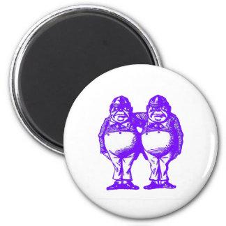 Tweedle Dee & Tweedle Dum 2 Inch Round Magnet