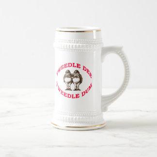 Tweedle Dee & Tweedle Dum Beer Stein