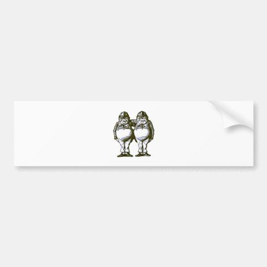 Tweedle Dee & Tweedle Dum Bumper Sticker