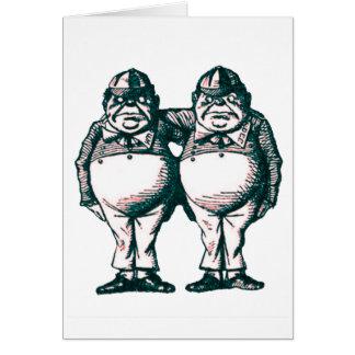 Tweedle Dee & Tweedle Dum Card
