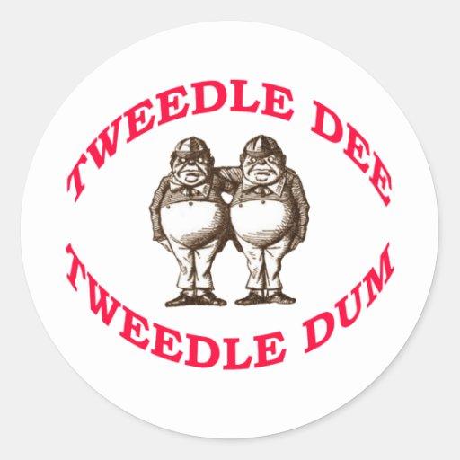 Tweedle Dee & Tweedle Dum Classic Round Sticker