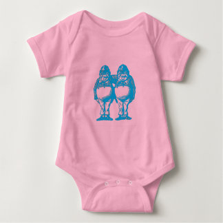 Tweedle Dee & Tweedle Dum in Blue Baby Bodysuit
