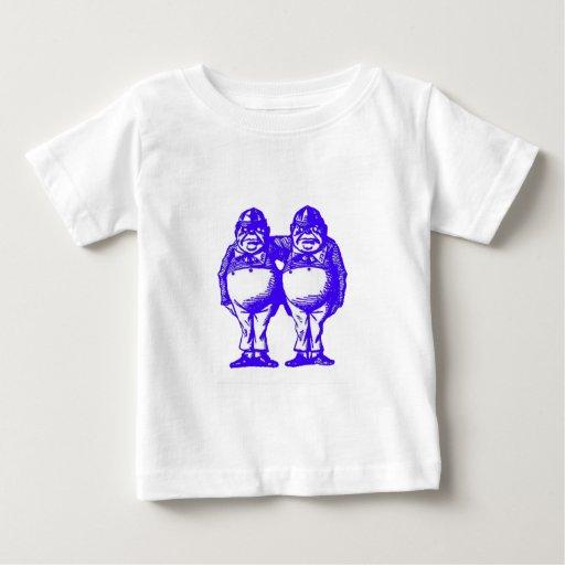 Tweedle Dee & Tweedle Dum in Blue T Shirts