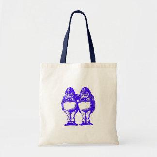Tweedle Dee & Tweedle Dum in Blue Tote Bag