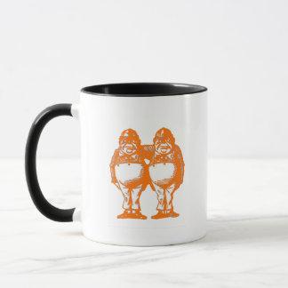 Tweedle Dee & Tweedle Dum in Orange Red Mug