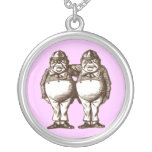 Tweedle Dee & Tweedle Dum in Sepia Custom Jewelry