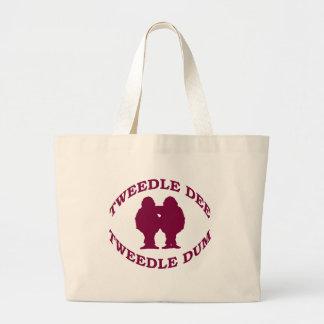 Tweedle Dee & Tweedle Dum Large Tote Bag