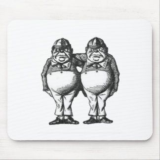 Tweedle Dee & Tweedle Dum Mouse Pad