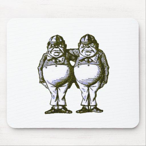Tweedle Dee & Tweedle Dum Mouse Pads