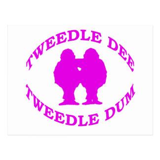 Tweedle Dee & Tweedle Dum Postcard