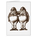 Tweedle Dee & Tweedle Dum Sepia Greeting Cards