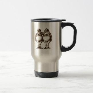 Tweedle Dee & Tweedle Dum Sepia Travel Mug