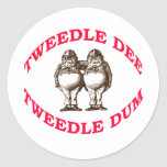 Tweedle Dee y Tweedle Dum Etiquetas Redondas