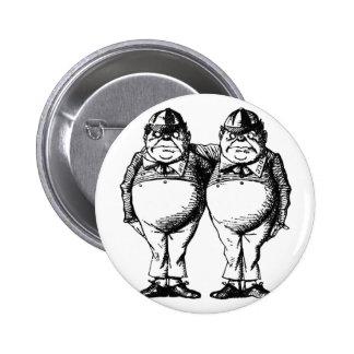 Tweedle Dee y Tweedle Dum Pin Redondo 5 Cm