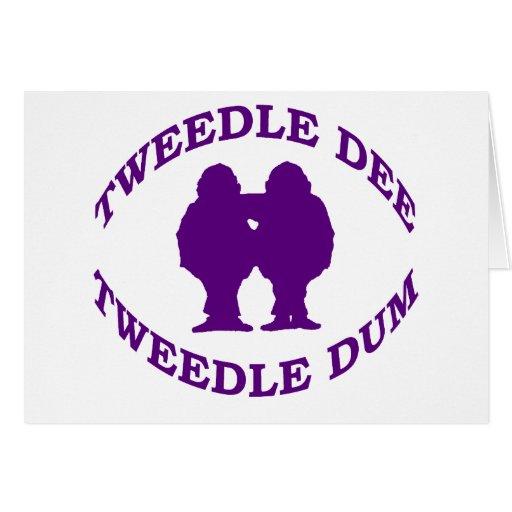 Tweedle Dee y Tweedle Dum Tarjeta De Felicitación