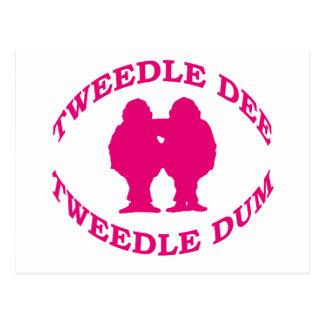 Tweedle Dee y Tweedle Dum Tarjeta Postal