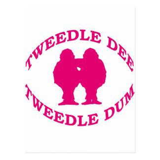 Tweedle Dee y Tweedle Dum Tarjetas Postales