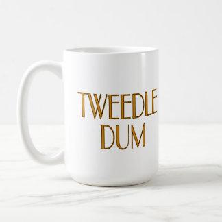 Tweedle Dee y Tweedle Dum Taza Básica Blanca